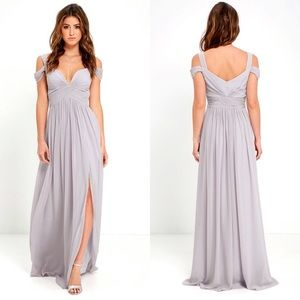 Lulu's Ocean of Elegance Georgette Maxi Dress -NWT